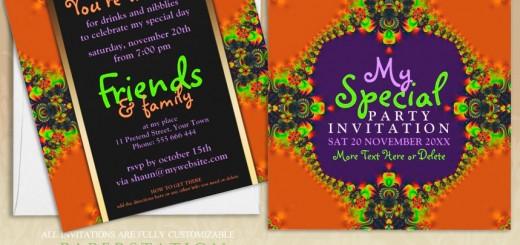 Exotic Fun Goddess Girls Party customizable Invitations