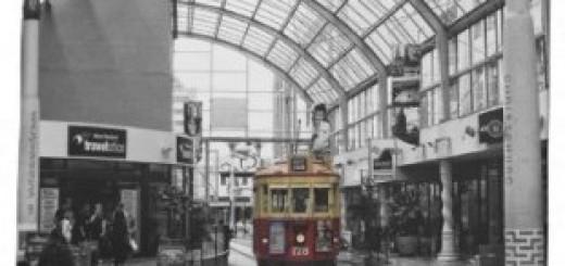 Christchurch city tram tea towel