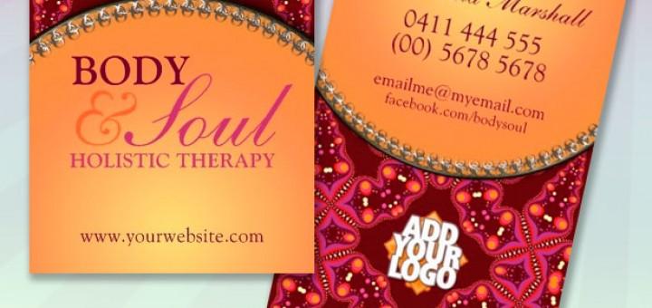 Modern Batik New Age Holistic Business Cards