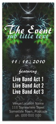 Fractal Garden Event Party Flyer
