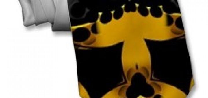 Golden Dusk GeoShapez Necktie