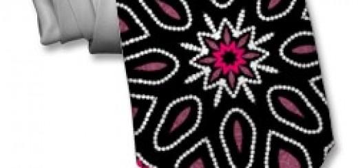 Modern Tribal Dream Star Pink & Black pattern fashion men's necktie