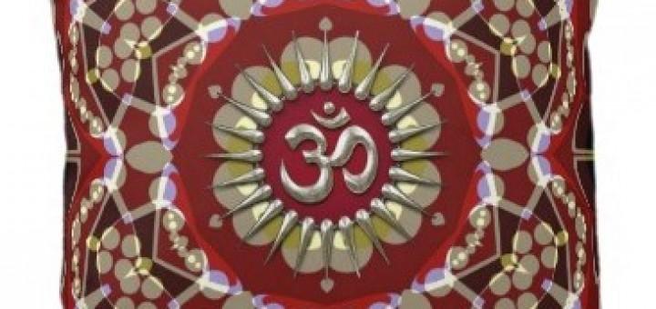 OM Geo-Magic Meditation Yoga Cushion Pillow