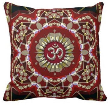 OM Geo-Magic Meditation Yoga Cushion Pillow