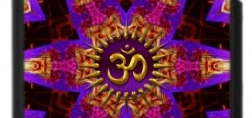 Purple Pink Star Aum Buddha Love iPhone 4 Case