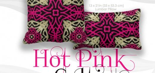 Celtica Hot Pink & Gold Big Cushions