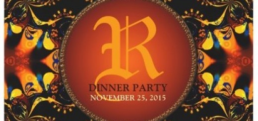 Tribal Batik Monogram Dinner party Invitation