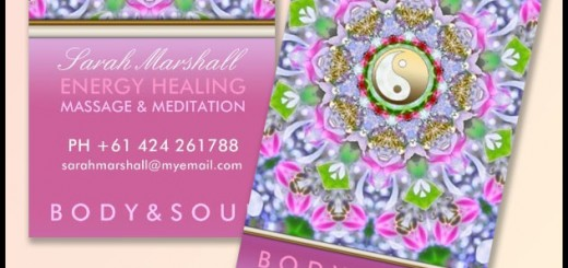 Energy Healing Business Cards