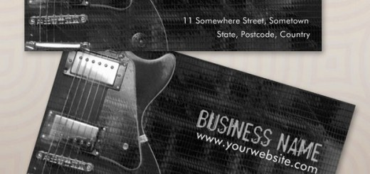 guitar greyaz business card template