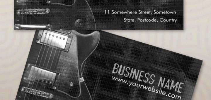 guitar greyaz business card template