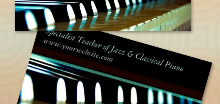 Keyboard Piano Music Business Cards