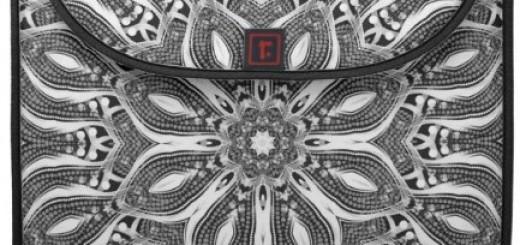 silver serpent geometric macbook pro laptop sleeve
