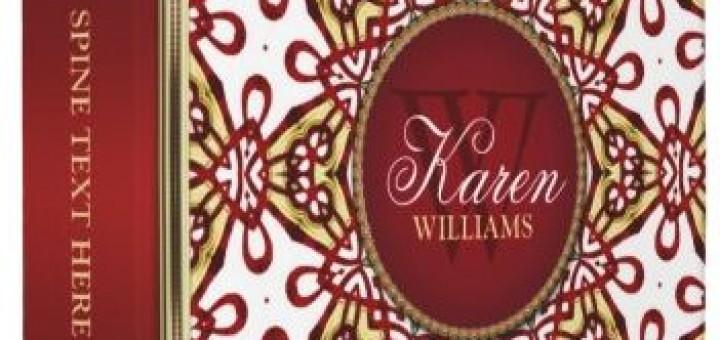Batik Floral Pattern Monogram Album Binder