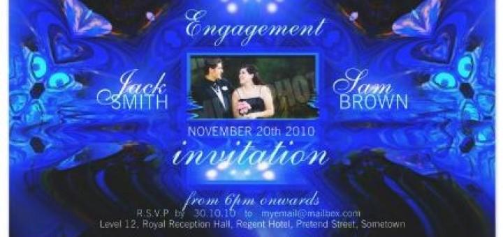 Blue Fantasy Invitation Photo Card