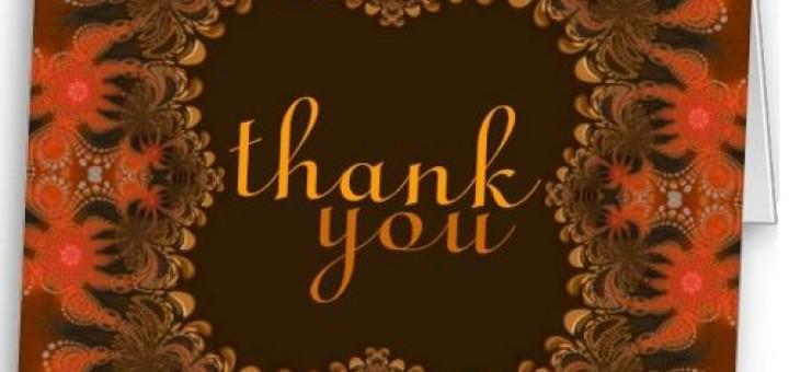 Organic Art Thank You Gracias Merci Danke Card by Paperstation