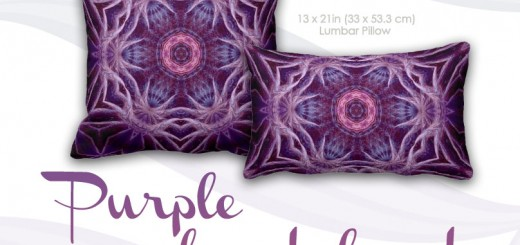 Purple Fractal Hexagon Star Purple lumbar and square Cushions