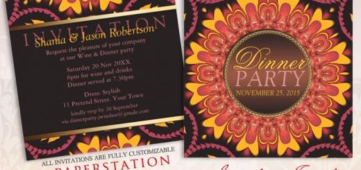 Sunshine Earth Love Customizable Dinner Party Invitations