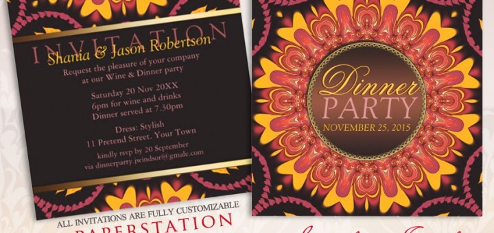 Sunshine Earth Love Customizable Dinner Party Invitations