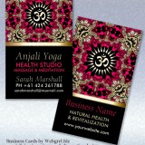 Anjali Yoga Eastern Aum Om New Age Business Card