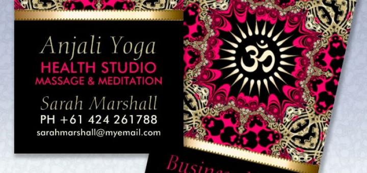 Anjali Yoga Eastern Aum Om New Age Business Card