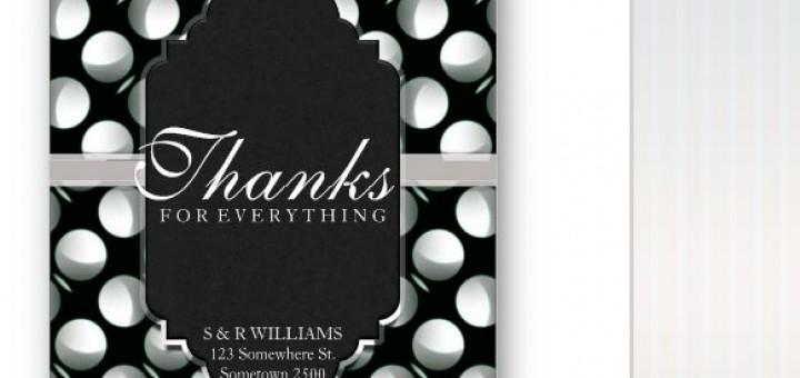 Thanks for Everthing Modern Moon Black+White Greeting Card