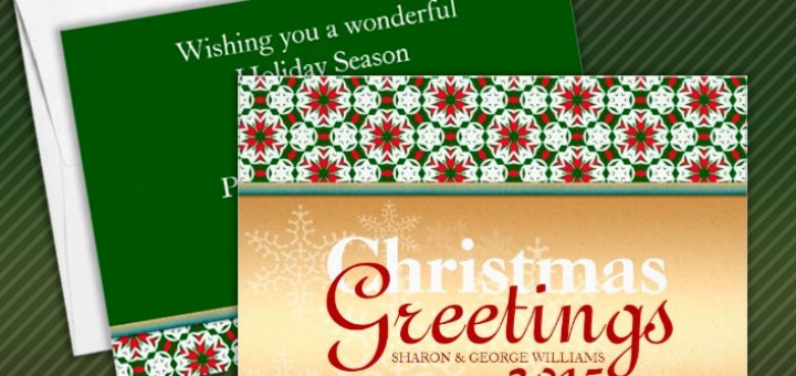 Geometry Star Snowflake Golden Christmas Holidays Custom Invite