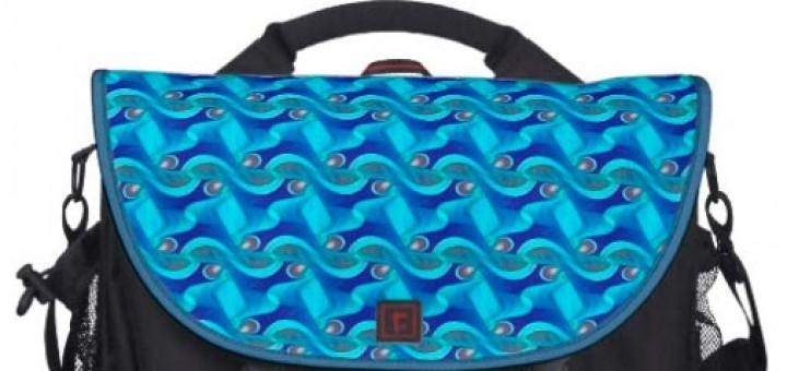 Sea Wavy Pattern Cool Blue Laptop Bag