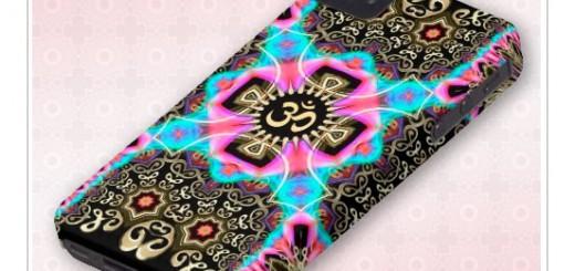 Celtic Arabesque Aum Gold Art Fusion iPhone 4 Case