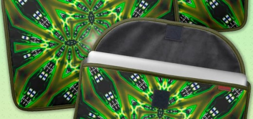 Light DMT Tribal Green Fusion Laptop Sleeve Sleeve For MacBooks