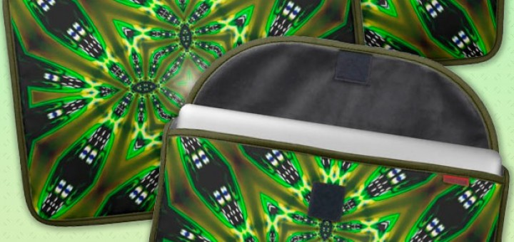 Light DMT Tribal Green Fusion Laptop Sleeve Sleeve For MacBooks