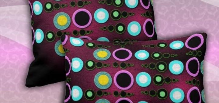 Funky Modern Dots Pattern Jumbo Cushion / Pillow by webgrrl