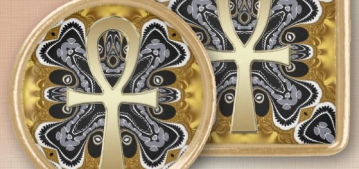Golden Ankh symbol of life Tribal geometry pattern Custom Necklace