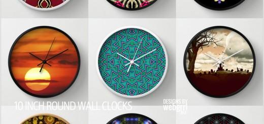 Cool Wall Clocks by Webgrrl at Society6