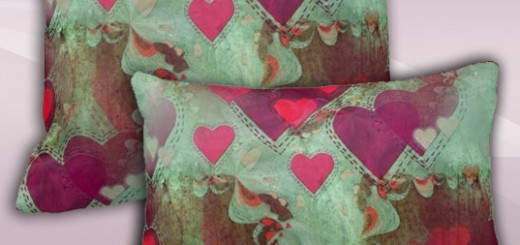 Floating Hearts Abstract Love Decorative Cushion