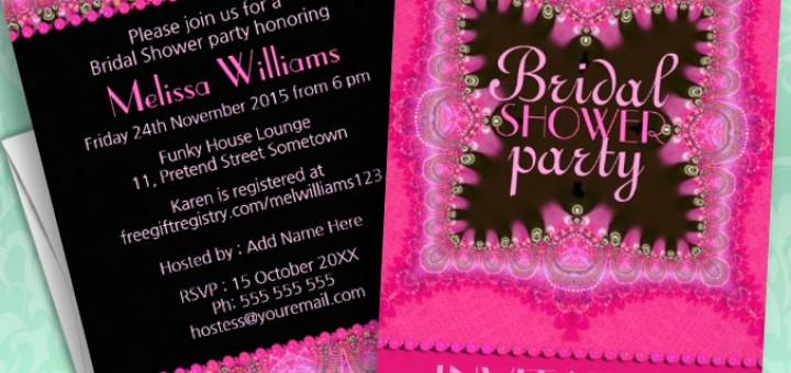 Pink Bohemian Princess Bridal Shower Invitations