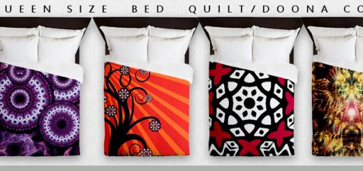 Queens size bed quilt doona covers by webgrrl