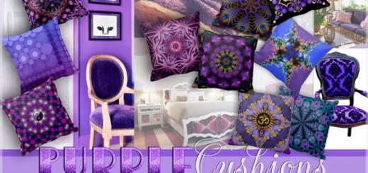 10 purple cushions / throw pillows by webgrrl