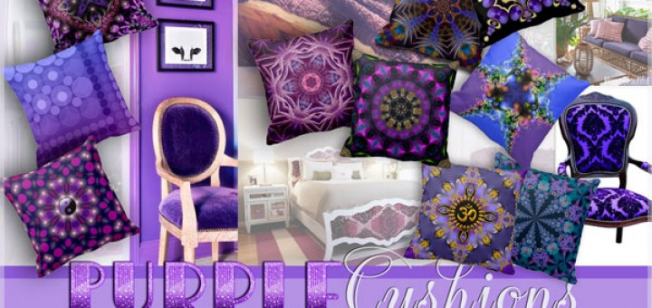 10 purple cushions / throw pillows by webgrrl