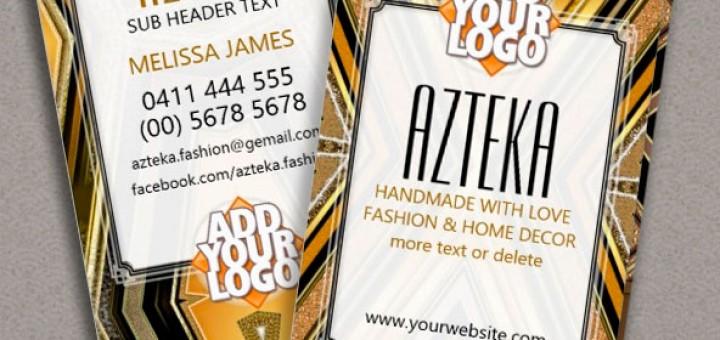 Style Fashion Black Gold ArtDeco Business Card