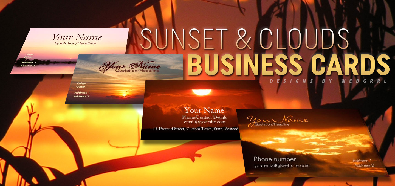 sunsetclouds-businesscards-by-Webgrrl