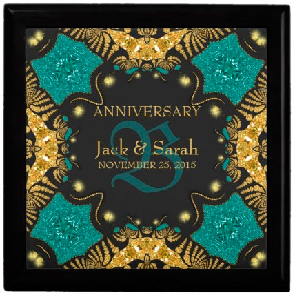 teal_black_gold_wedding_anniversary_gift_box