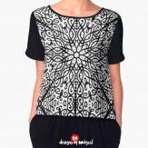 black-white-ornate-CHIFFON-TOP