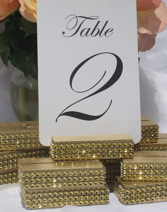 table-number-holder-gold-glam-bling-wedding-table