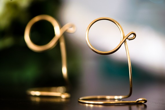 Brass Table Number Holders, Wedding Reception, Formal Events - set of 4