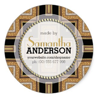 Squazo ArtDeco Gold Black Made By Labels Stickers