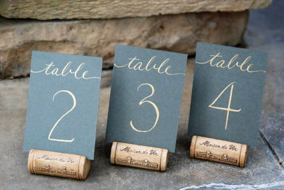 Place Card Holder or Table Number Holder made from a Single Wine Cork