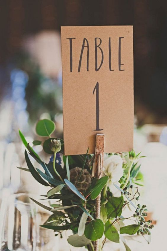 Table card holder ideas - clothes peg