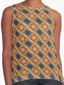 little-gold-squares-pattern-contrast-tank