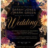 Bohemian Wedding Invitation suite by Webgrrl