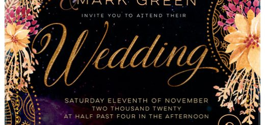 Bohemian Wedding Invitation suite by Webgrrl